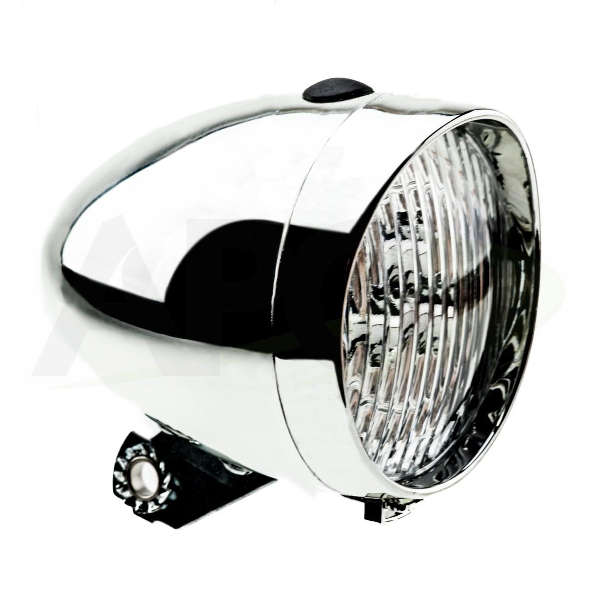 LAMPA BATERYJNA PRZÓD HW 160302 S srebrna