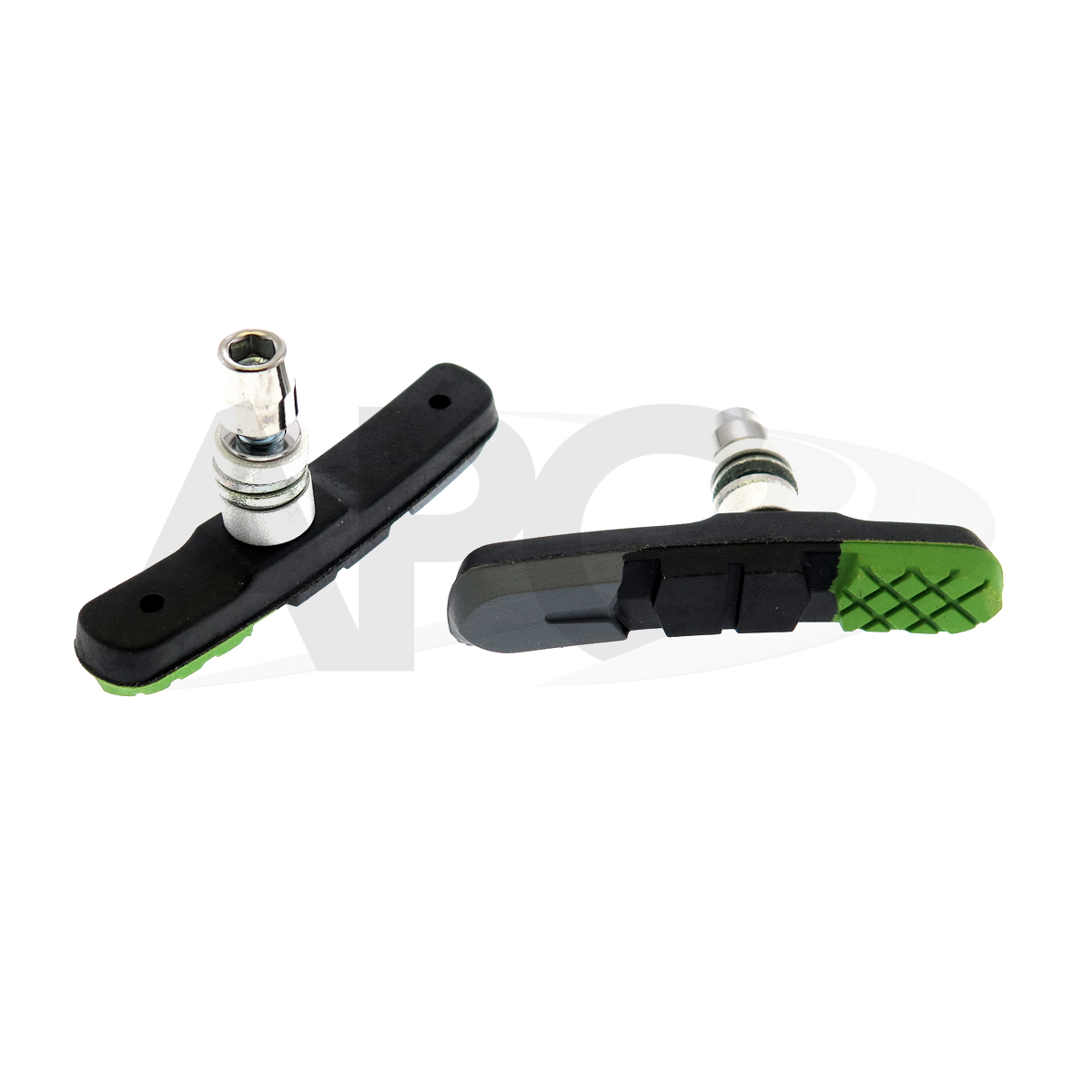 KLOCKI HAMULCOWE mtb-960 V kolor: szaro-czarny-zielony