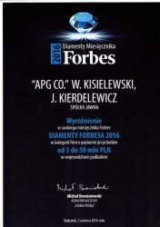 APG-FORBS 2016
